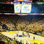 Its absolutely electric inside @OracleArena for #Blazers #Warriors Game 2! https://t.co/9zWysBxvPq