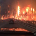 Absolutely insane images from Ft McMurray!Taken a few minutes ago on on of the last routes open to get out! #ymmfire https://t.co/SIhOjTUJWS