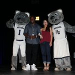 Student athlete of the year - James Butler (Football) and Sharae Zheng (Diving)! #TheWolfies https://t.co/SmpUrCqnNl