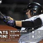 CATS WIN! #KStateBSB defeats Wichita State, 9-5, and improve to 22-23 on the season. Next home game: May 13 vs. KU. https://t.co/g2g7xo0YyN