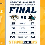 Well that was fun! Lets do it again on Thursday! #SJSvsNSH #StandWithUs https://t.co/wk91SlisII