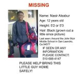 MISSING CHILD ALERT: another missing 12 y/o child in the Bay Area, keep your eyes peeled and make this a PSA https://t.co/q3kLwwvDGj