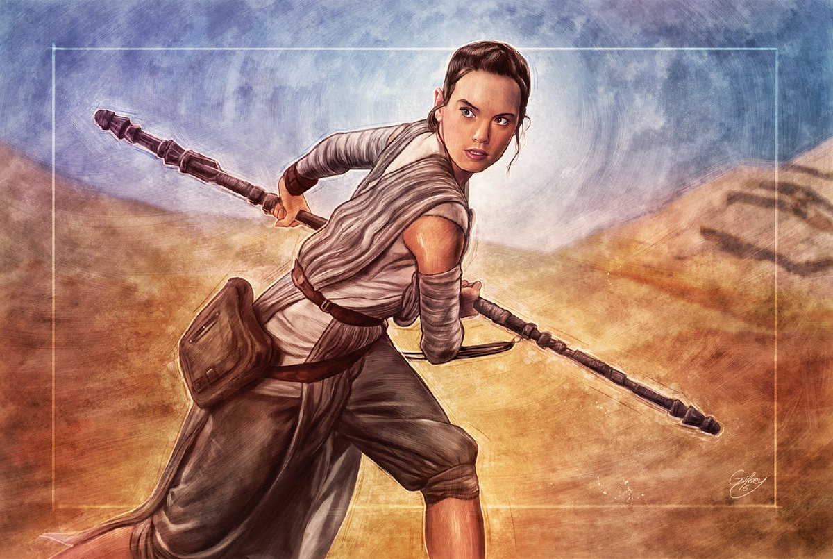 #MayThe4thBeWithYou – Happy #StarWarsDay! RT & follow for your chance to win a signed Rey print. https://t.co/auKQXPS8k7