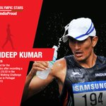 Lets cheer for Sandeep Kumar . #RioOlympics2016 #MakeIndiaProud https://t.co/nWX5WeXWQA