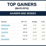 Top 5 Gainers as on 04-05-2016 https://t.co/uno7diYneU