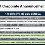Corporate Announcements (16:30 PM) view more at  https://t.co/a5o3MLZl0s https://t.co/eNOkE32mjo
