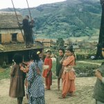 Girls waiting to play Rope Swing (पिङ्ग) in Kathmandu #Nepal in 1950s. (by William Morris) https://t.co/KL41qxDiaV