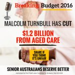 Being old shouldnt make you an easy target.. #Budget2016 #Ausvotes2016 #Auspol https://t.co/8fJ1ABo5co