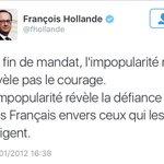 Hollande à 13% de popularité. Limpopularité cest lui qui en parle le mieux ... https://t.co/NVk11wnvLk