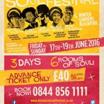 The Blackpool International Soul Festival, Friday 17th - Sunday 19th June. Tickets just £40 for the three days! https://t.co/XQbA2DJct0