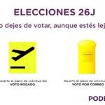 Este 26J ejerce tu derecho al voto aunque este lejos. Votar para volver, volver para votar https://t.co/jwDMSw3Uny