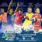 Marti Lucero tercalon pilihan pemain terbaik bulan April oleh @pfamalaysia https://t.co/XRDr7s8Lus