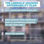 Liberals three point housing affordability plan. https://t.co/txr8X8eZYn