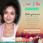 """""""Feel good movie with a lesson!"""" - Kathryn Bernardo #JustThe3OfUsNowShowing https://t.co/KnKzlnYfMN https://t.co/ahznmYymaG"""