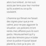 Lhomme handicapé malmené par la police à Gare de Lyon sappelle François Bayga, voici son témoignage : https://t.co/99vraq7Xoh