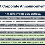 Corporate Announcements (13:10 PM) view more at  https://t.co/vuB5ZO9FlD https://t.co/gk4CDEct4n