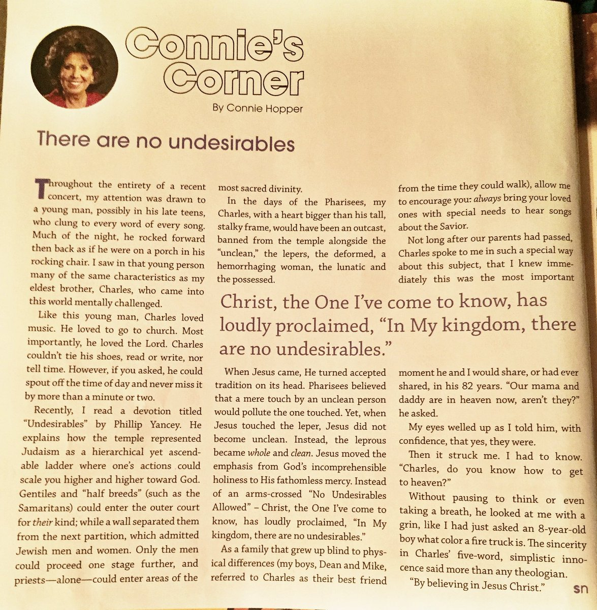 Mom's article in the May issue of @singingnews is a MUST read for ALL! Go grab a copy right now! Here's a snapshot https://t.co/m2dZXoaak6
