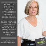 Lucy Turnbull speaks out against #violenceagainstwomen in new @OurWatchAus Ambassador role https://t.co/ZIDUPO4r8i https://t.co/aELjsTdUJS