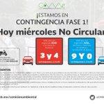 Por Contingencia , Hoy No Circulan Engomados Rojos (3,4) y Azules (9,0) Permisos y matrículas sin número https://t.co/cUzoRNkigf
