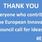Excellent response to call for #ideas on #European #Innovation Council  https://t.co/FwD6AjwtOy #EU_EIC https://t.co/jEOuNIzhYU