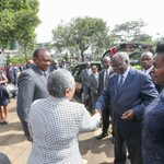 President @UKenyatta and @FirstLadyKenya at the Requiem Mass in honour of Mama Lucy Kibaki at the Consolata Church https://t.co/XVnPqwiiVr