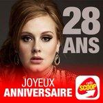 Aujourdhui, #Adèle fête ses 28 ans ! On lui souhaite un joyeux anniversaire :) https://t.co/r3b72S1Pgm