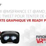 #concours #VR une R9 390 GAMING 8G à gagner Pour participer: - Follow @msifrance + @AMD_France - RT ce tweet https://t.co/OOnaoyDdFb