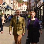 UKIP Leader Nigel Farage is in Lincoln today ahead of the PCC Elections to support Victoria Ayling. https://t.co/KLg9IAAcUY