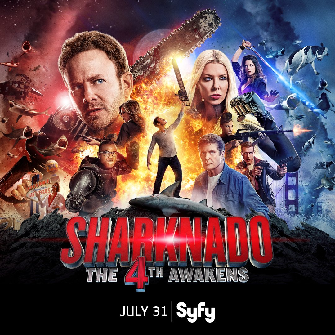 #MayThe4thBeWithYou when you watch #Sharknado4 July 31 on @Syfy. #The4thAwakens