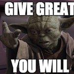 Yoda would give. https://t.co/gG5fC0wJIR  #TheGreatGive #GiveLocalAmerica #StarWarsDay https://t.co/ZwZCCT1PWK