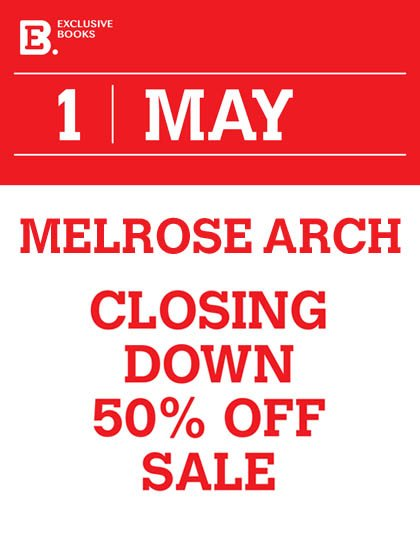 Please note that our Melrose Arch store will be holding a closing down sale from 01 May till 15 May. https://t.co/n45tCamR4w