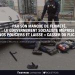 Par son manque de fermeté, @gouvernementFR méprise nos policiers & laisse «casser du flic» ! https://t.co/rLyCDzABKY https://t.co/7q1acT8gta