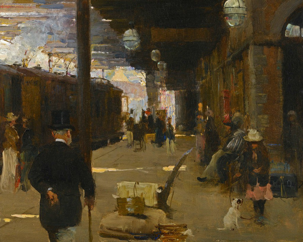 "Hastings Railway Station"" : Walter Frederick Osborne (Irish, 1859-1903) https://t.co/zHMzMQ0ty9"