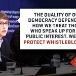 Thanks to all who participated in launch of our #whistleblower directive today! Full text: https://t.co/Z7BFhpehmQ https://t.co/rXYI6UhFBy