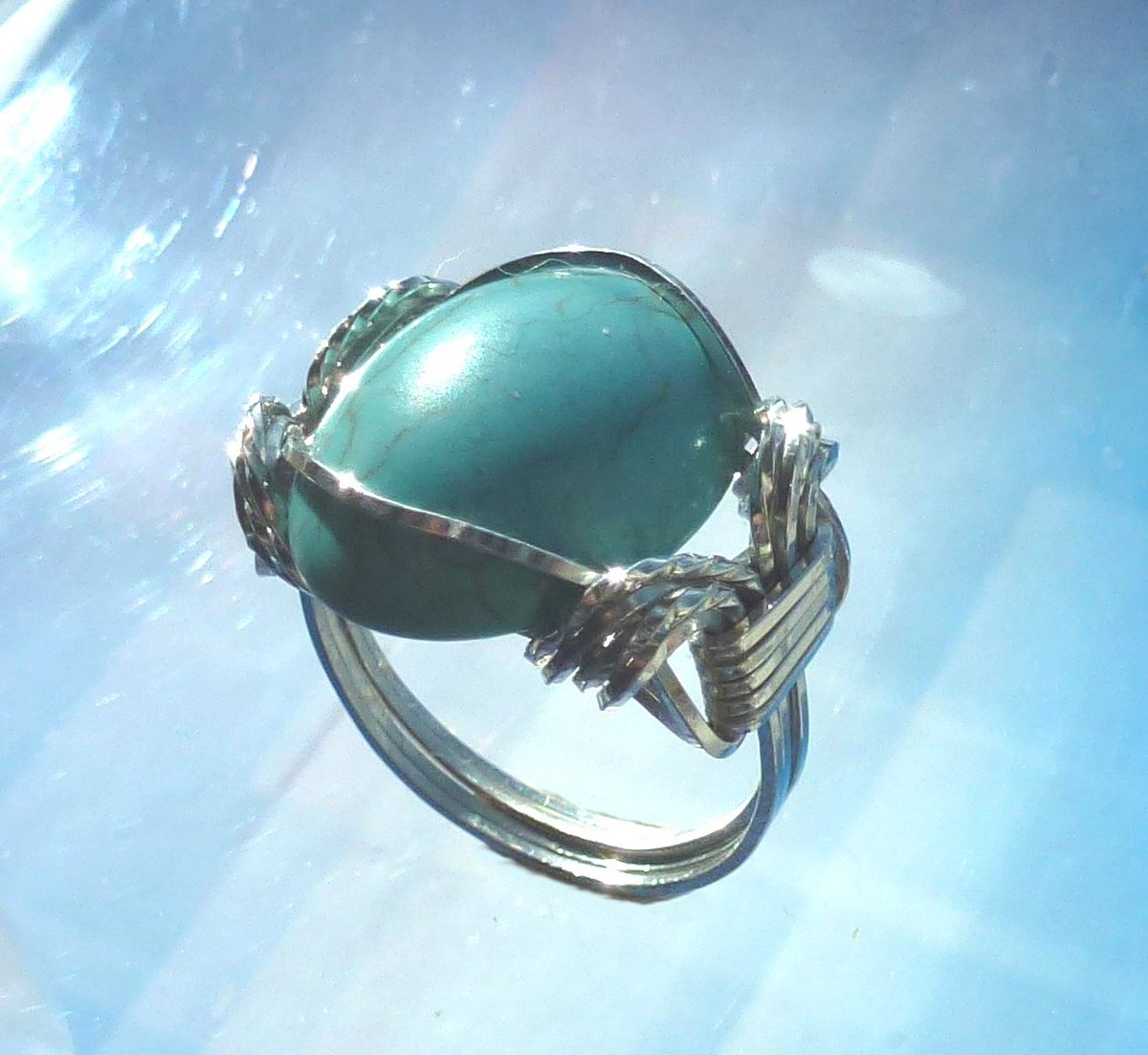 Turquoise Howlite Ring Wire Wrapped Jewelry Handmade in Silver with Fre… https://t.co/2YK6TniCD4 #etsymntt #handmade https://t.co/zLGOOHrOux