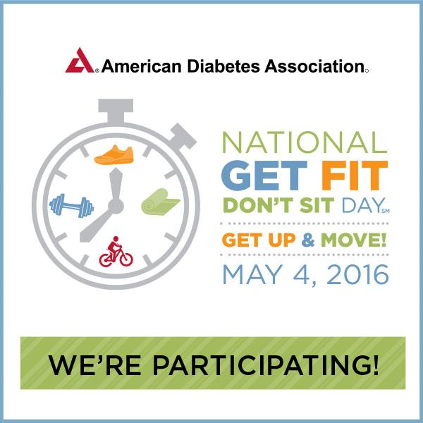 Today for @AmDiabetesAssn's Nat'l #GetFitDontSit Day, we're sitting less & moving more! https://t.co/k6doHY51YW https://t.co/toiT6DOZxZ