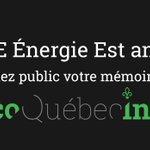 ???? #ÉnergieEst : découvrez le mémoire de M. Robert Duchesne «citoyens vs promoteurs» ????https://t.co/IqGSMdFxhI #PolQc https://t.co/o3BkTjZbjT