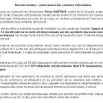 #SecuriteRoutiere: contrôles renforcés sur les routes de Gironde à loccasion du week-end de lascension. Prudence https://t.co/O8XeHn0Mjc
