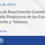 #AGENDA: Anuncio del Programa de Reactivación y Desarrollo Productivo de Campeche y Tabasco. https://t.co/DX3kOAk7YL https://t.co/DKL9gbE8vH