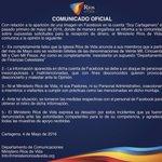 Comunicado Oficial - Departamento de Comunicaciones Ríos De Vida   Por favor difundir.   #RíosDeVida https://t.co/9LSmMUriOc