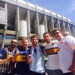 #BocaEsMundial Hinchas de #Boca en Madrid antes del choque por Champios entre el Real Madrid y Man. City ???? @SC_ESPN https://t.co/wfGNdvwjpY