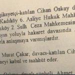 İşin garibi, mahkeme sonuçlanmadan @ahmetcakar1 savcı ve hakim rolüne bürünerek Cihan Oskaya rüşveti verir. https://t.co/JpJTvJYf3j