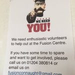 @FusionTongeMoor are looking for #volunteers...#community hub needs you. Contact on poster @boltonathome #boltoncdo https://t.co/iQxOKvgnOV
