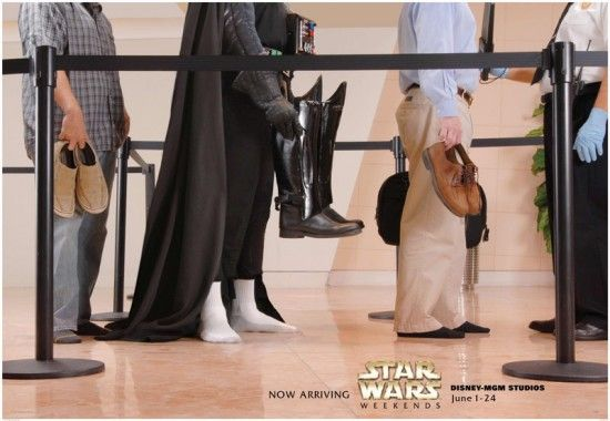 #MayThe4thBeWithYou Even Darth Vader has to take off his shoes at the @TSA security checkpoint! #avgeek https://t.co/QN0CYEkvGj