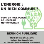L'NRJ un bien commun? Pour un pôle public de l'énergie métropolitain RDV le 10/5 #Grenoble https://t.co/P3bv9tZIBO https://t.co/OZaa9fIJY8