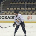 Kris Letang, suspended for tonight, taking the morning skate #Pens https://t.co/ZojvwmSM6q