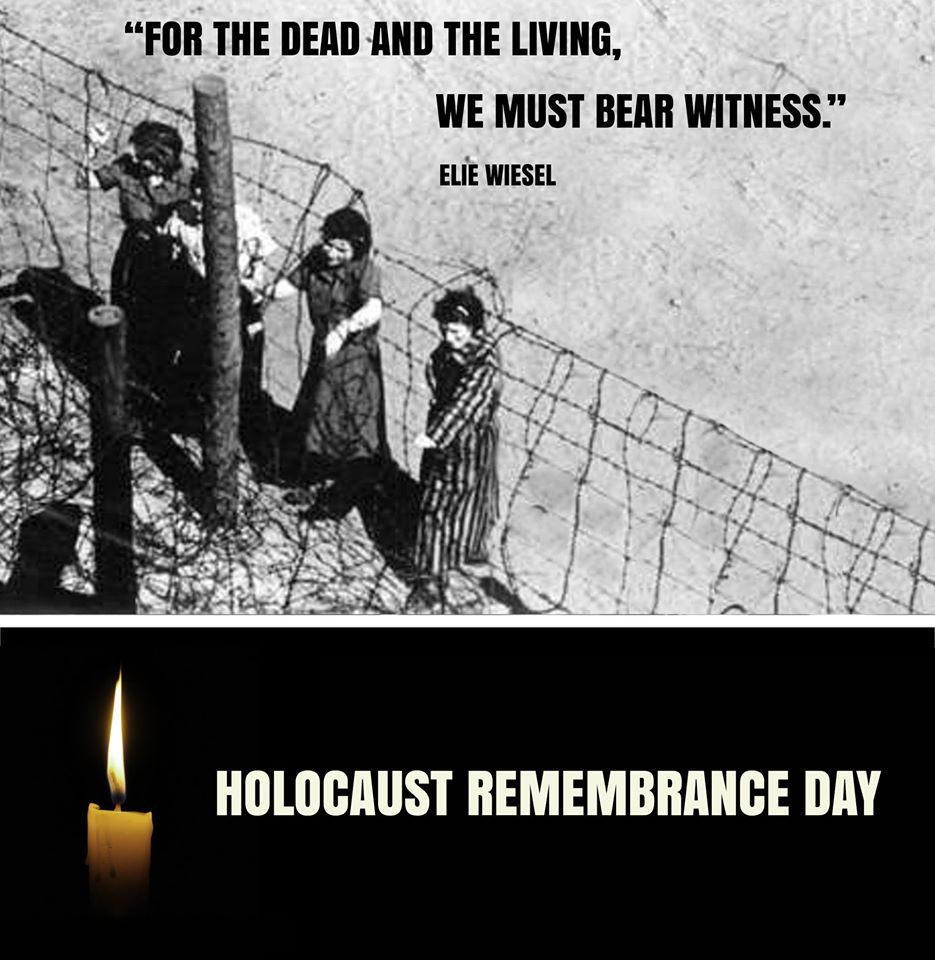 """For the dead and the living, we must bear witness"" Elie Wiesel. #YomHaShoah https://t.co/RYJxXvqroP"