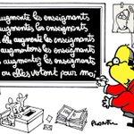 François HOLLANDE augmente les ENSEIGNANTS. Le dessin du Monde de ce mercredi 4 mai. https://t.co/KY0w2IJdIE