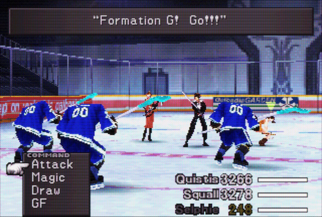I love that a single room in FF8 has a hockey team that you can randomly encounter https://t.co/j1g011jDX9