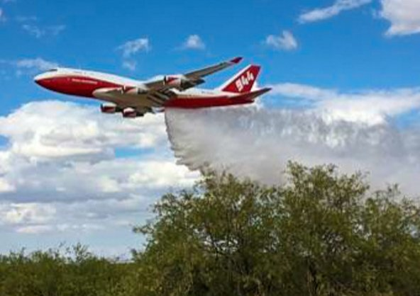 This converted 747 is ready to debut as the biggest aerial firefighter in the U.S.... https://t.co/d40GXKtGLp https://t.co/4qcNIPm7oQ